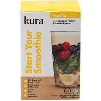 White Cloud Nutrition, Llc Kura Vanilla Protein Smoothie Powder, 1.4 oz, 10 count