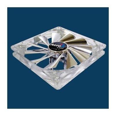AeroCool Silver Lightning Quad White LED 140mm Fan w/ 120mm Adapter