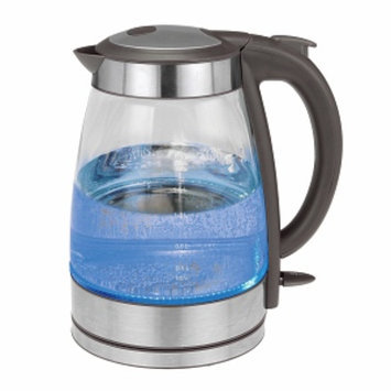 Kalorik Water kettle, Glass and Stainless Steel, Gray, 1 ea