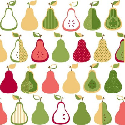 Target Home Kitchen Pears Wallpaper - Green/Yellow/Coral
