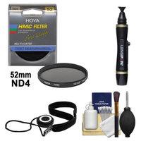Hoya 52mm HMC ND4 Multi-Coated Neutral Density Filter + Accessory Kit for Canon, Nikon, Sony, Olympus & Pentax Lenses