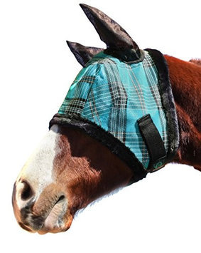 Kensington Protective Fly Mask with Ears - Fleece Trim