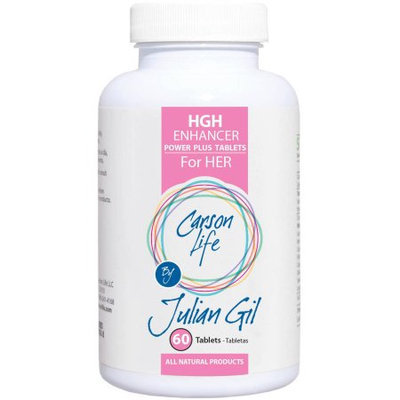 Carson Life by Julian Gil HGH Enhancer for Her Dietary Supplement Power Plus Tablets, 60 count