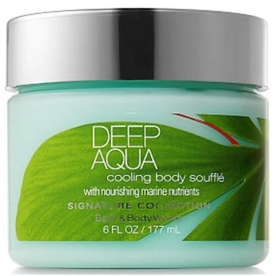 Bath & Body Works Deep Aqua Cooling Body Souffle Signature Collection 6 fl oz (177 ml)