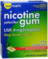Sunmark Nicotine Polacrilex Gum, 4 mg, Cool Mint 100 each by Sunmark