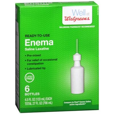 Walgreens Ready-to-Use Enema Saline Laxative 6 Pack, 2.5 oz