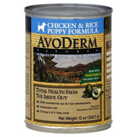 AvoDerm Natural Dog Food, Puppy Formula, Chicken & Rice - 13 oz