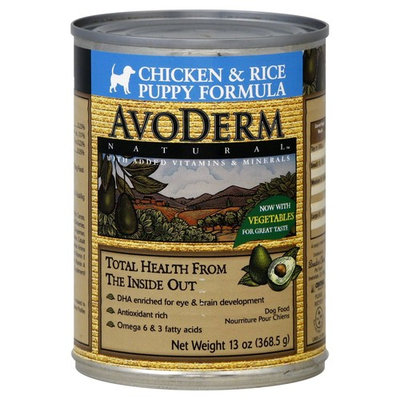 AvoDerm Natural Dog Food, Puppy Formula, Chicken & Rice - 13 oz