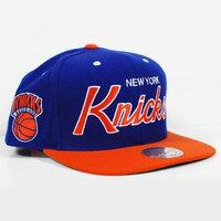 Mitchell Ness Mitchell & Ness New York Knicks Royal Blue-Orange Special Script Snapback Adjustable Hat