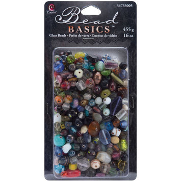 Cousin 34733005 Jewelry Basics Glass Bead Mix Assorted-Multi