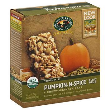 Nature's Path Organic Pumpkin-N-Spice Flax Plus Chewy Granola Bars
