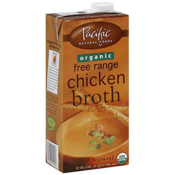 Pacific Natural Foods Chicken Broth, 32 oz (Pack of 12)