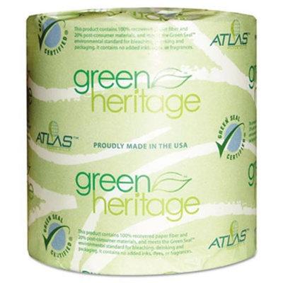 Atlas Paper Mills Green Heritage Bathroom Tissue, 2-Ply, 500 Sheets/Roll, 48 Rolls/Carton