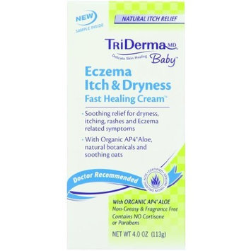 Tri Derma Md Eczema Itch & Dryness Fast Healing Cream, 4 Ounce