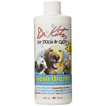 Dr. Harold Katz Dr. Katz for Dogs and Cats Fresh Breath, Oral Rinse, 16 oz ( 473 ml), (Pack of 5)