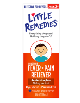 LITTLE REMEDIES® CHILDREN'S FEVER & PAIN RELIEVER NATURAL GRAPE FLAVOR