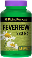 Piping Rock Feverfew 380mg 180 Capsules