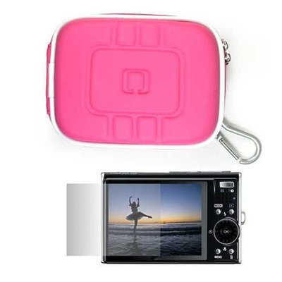 VangoddyTM Eva Camera Case for Sony Cybershot + Clear Screen Protector, Eva Magenta