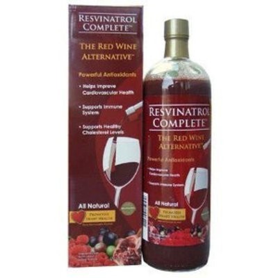 NFI Resvinatrol Complete Liquid (32 oz) - WITH proven Cholesterol Lowering Plant Sterols, CoQ10, and Omega 3