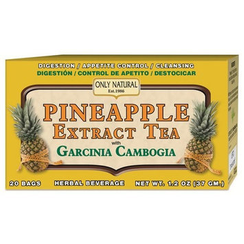 Pineapple Extract Tea, With Garcinia Cambogia 1.2 Oz (20 Bags) by Only Natural
