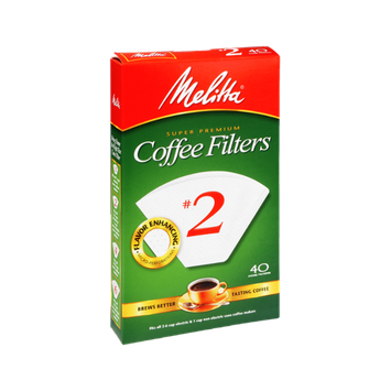 Melitta Super Premium #2 Coffee Filters - 40 CT