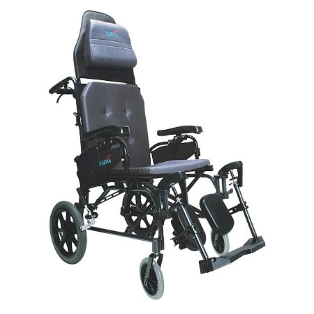 Karman 16 inch Lightweight Reclining Transport Wheelchair