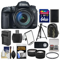 Canon EOS 7D Mark II GPS Digital SLR Camera & EF-S 18-135mm IS STM Lens + 64GB Card + Backpack + Battery/Charger + Tripod + Filter + Tele/Wide Lens Kit