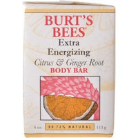 Burt's Bees Extra Energizing Citrus & Ginger Root Body Bar 4-Ounce Bars (Case of 6)