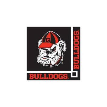 Creative Converting 207282 Georgia Bulldogs Beverage Napkins