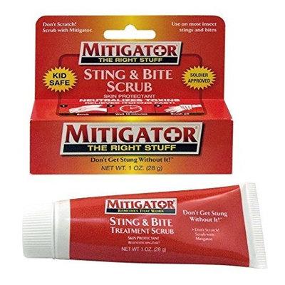 Mitigator Sting & Bite Scrub Treatment Skin Protectant Relieves Itching Fast!, 1 oz Tube