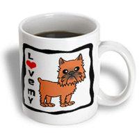 Recaro North 3dRose - Janna Salak Designs Dogs - I Love My Brussels Griffon Cropped Ears - 15 oz mug