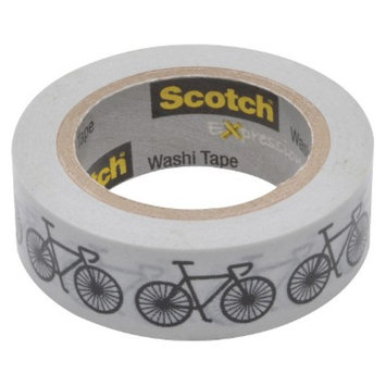 Scotch Washi Tape Orange Swiss Dots 10mX15mm