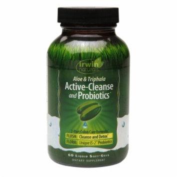 Irwin Naturals Active-Cleanse & Probiotics, Soft-Gels, 60 ea