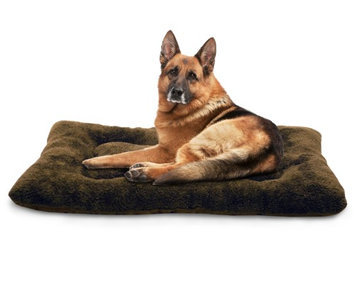 FurHaven Watches Espresso Terry & Suede Nap Mat Pet Bed