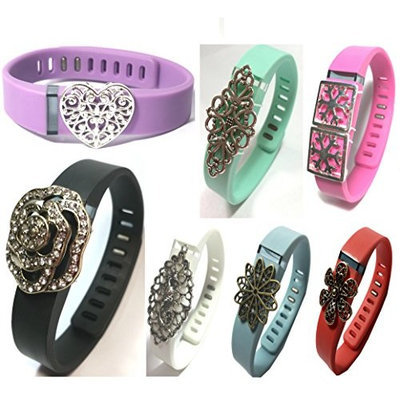 all4fit Fashion Wristband for Fitbit Flex with Clasp Wireless Activity-fitness Band Bling Accessory- Dress Outfit. []