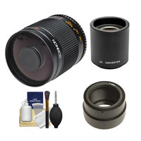 Rokinon 500mm f/8.0 Mirror Lens & 2x Teleconverter (= 1000mm) with Cleaning Kit for Sony Alpha NEX-C3, NEX-F3, NEX-5, NEX-5N, NEX-7 Digital Cameras