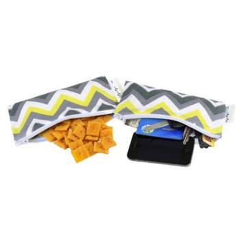 Itzy Ritzy Snack Happens Mini-Sunshine Chevron - Yellow/Gray