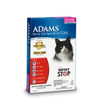 Adams Flea and Tick Spot On for Cats and Kittens 5 lbs and over