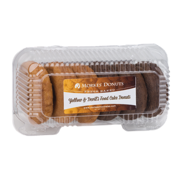 Morkes Yellow & Devil's Food Cake Donuts - 6 CT
