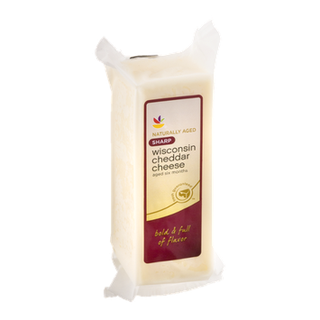 Ahold Wisconsin Cheddar Cheese Sharp White - 16 OZ
