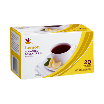 Ahold Lemon All Natural Flavored Green Tea Bags- 20 CT