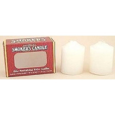 Crystal Candles  Arizona Naturals Crystal Candles (Arizona Naturals) - Smoker's 2-Pack (White) - Smoker's 3 In