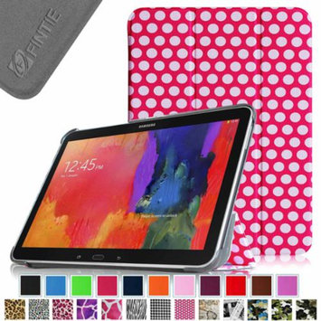 Fintie Smart Shell Case Ultra Slim Lightweight Stand Cover for Samsung Galaxy Tab 4 10.1 Tablet, Polka Dot