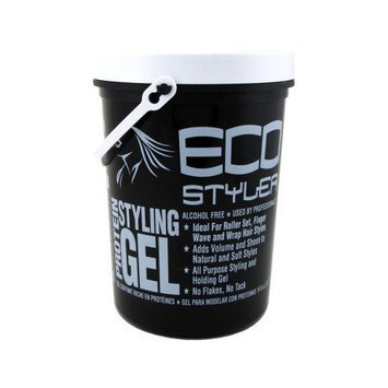 Eco Styler Styling Gel 5 Lb. Protein (Black) (3-Pack) with Free Nail File