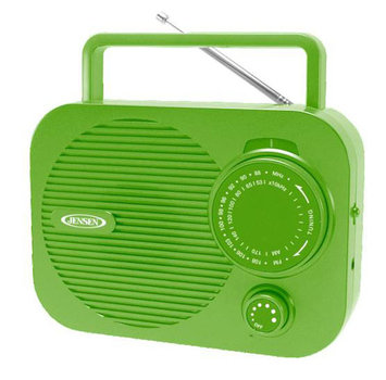 Jensen MR-550 Portable AM/FM Radio Green