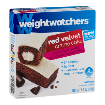 Weight Watchers Red Velvet Creme Cakes - 6 CT