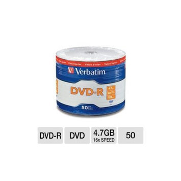 Verbatim VER97493 DVD-R Spindle - 50 Pack, 16x Speed, 4.7GB Capacity