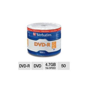 Verbatim VER97493 DVD-R Spindle - 50 Pack, 16x Speed, 4.7GB Capacity