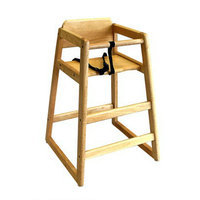 L.A. Baby Wooden Stackable Restaurant Highchair