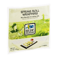 Blue Dragon Spring Roll Wrappers - 15 CT